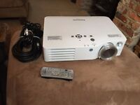 "Panasonic PT-AX200E Projector and Duronic 80"" Freestanding Screen"