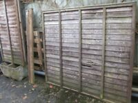 Wooden Fencing panels, Gate and posts