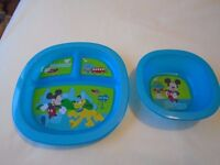 Child's plate sets x 3