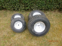 Ride on lawn mower wheels and tyres £30 for all 4 wheels