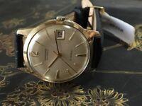 Vintage solid 9k 9ct 375 gold Garrard Automatic mens watch