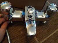 BRISTAN BATH SHOWER MIXER TAPS + SHOWER HOSE & HEAD - BNIB