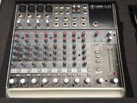  Mackie 1202 VLZ3 Mixer, studio Mixing Desk, EQ, FX, sends, 12 channel, Plus with Flightcase
