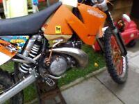 KTM 250 2 stroke swap
