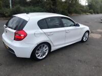 BMW 1 SERIES 116i 2007 WHITE HPI CLEAR VERY CHEAP BARGAIN