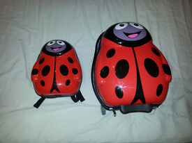 1 Matching 'The Cuties and pals' kids ladybird suitcase and backpack.