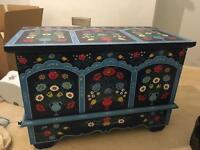 Beautiful Hand painted wooden chest