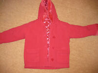 REVERSIBLE PINK SATIN or DUFFLE COAT - GREAT COND age 3-4 - all occasions +FREE BOOKS - BARGAIN