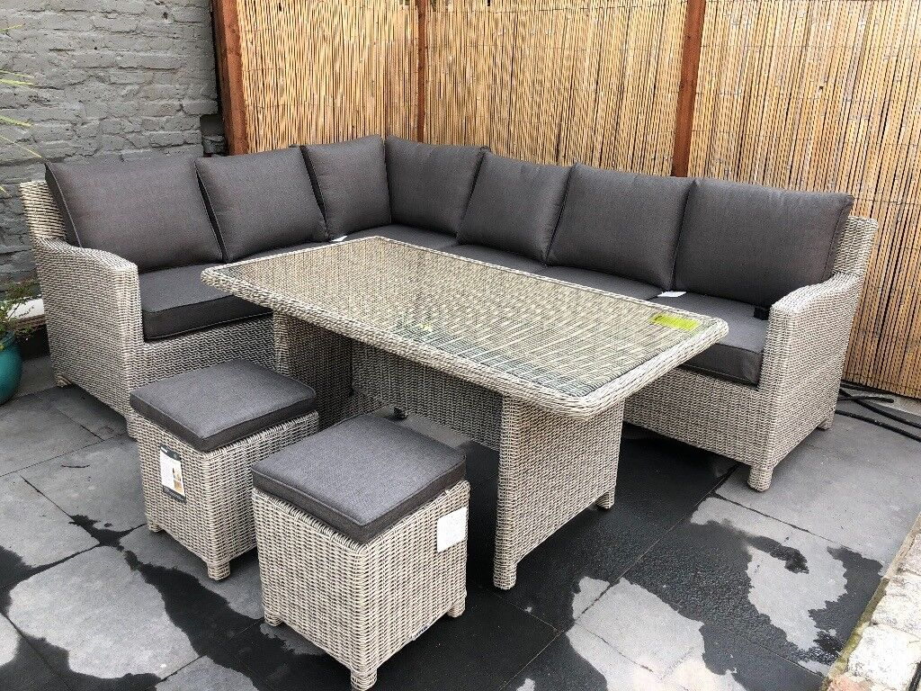 0cfe6969966b Kettler Palma 8 Seater Round Garden Dining Table And Chairs Set ...