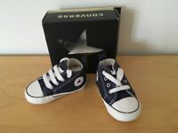 Converse navy baby shoes / boots. Brand new in box
