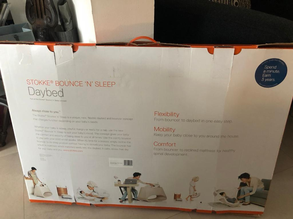 Stokke baby bounce and sleep daybed crib hardly used still in box | in  Motherwell, North Lanarkshire | Gumtree