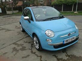 Fiat 500 1.2 Pop Star 3dr (start/stop) 2013 blue excellent condition