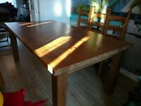 8 seater dining table solid wood
