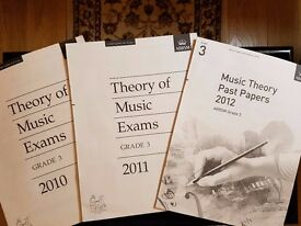 ABRSM Music Theory Grades 1, 2 & 3 workbooks and past papers / 15 BOOKS IN ALL