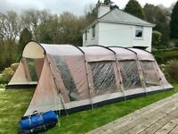 Extra large family tent, awning, carpet and groundsheet (ColemanOhio XL)