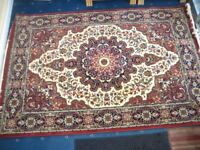 Beautiful 8' x 5' indian style rug, Plush and fringed, Looks great..never used