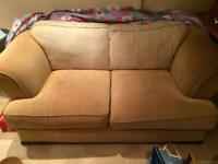 Large beige fabric sofa