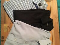 3 men's long sleeved shirts. George Burton Russel Collection