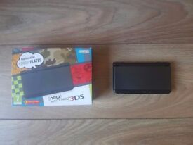 'New Nintendo 3DS' Console With Charger & Case- Black - Excellent Condition