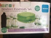 Newborn sterilizer and bottle set