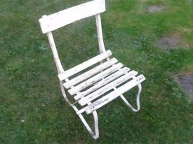 garden bench and chairs for restoration project
