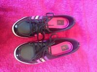 Adidas Mutli Coloured slip on pumps. Size 5 uk