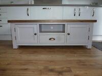 dovetail grey & oak tv cabinet
