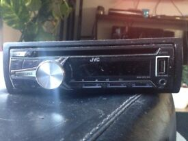JVC Car CD Radio player, hardly used as new car had one installed. £25