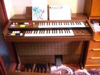 Yamaha Portatone Organ with twin keyboards