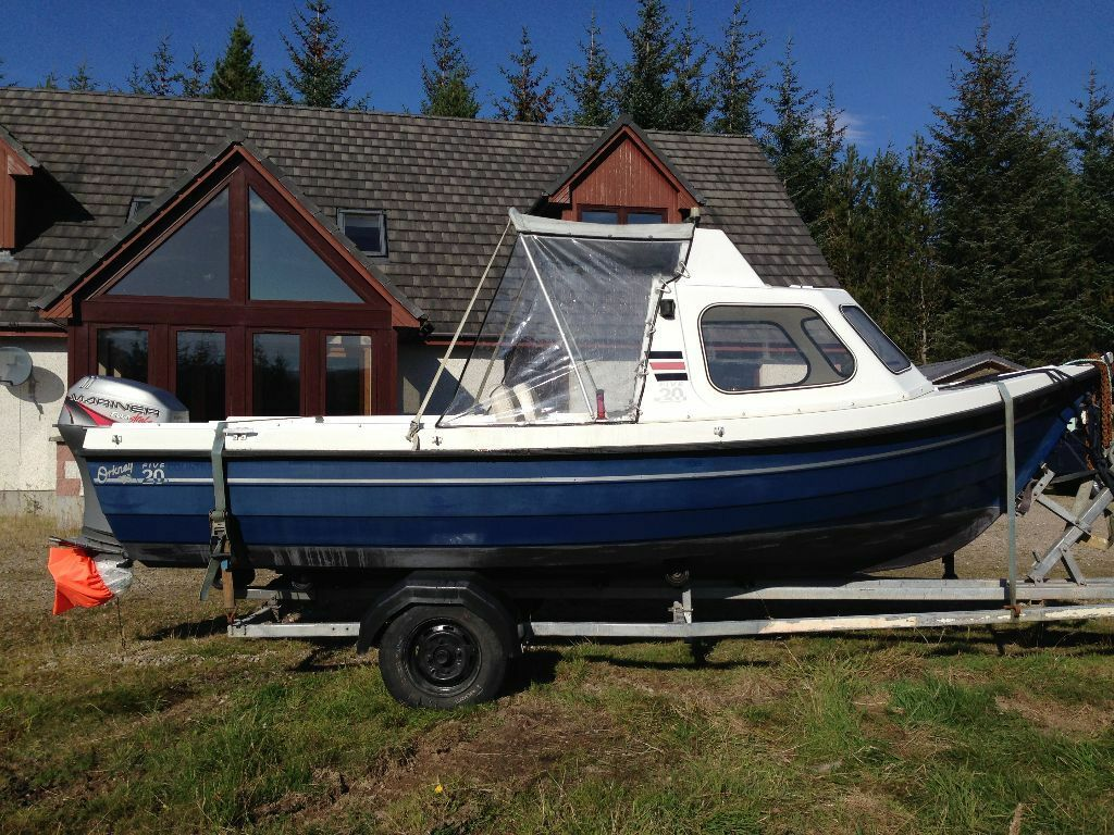 ORKNEY 520 FISHING BOAT WITH MARINER OUTBOARD | in Inverness, Highland | Gumtree