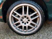 Oz 17 inxh alloy wheels. Multi fitment 3 with tyres