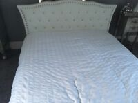 White Diamonte double bed and matress