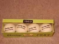 Vintage 1963 Dunlop Fort LTA Official Tennis Balls