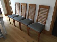 Brooklyn Oak dining chairs x 4