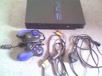 Sony Playstation 2 Black Pal CONSOLE