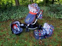 Cosatto Giggle 2 Travel system, Fable Design. Pram, car seat, baby buggy