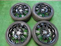 """BMW M3 SPORT STYLE 19"""" STAGGERED ALLOY WHEELS BLACK"""