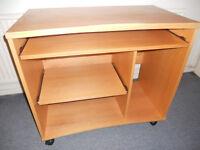 PC Desk - On Casters