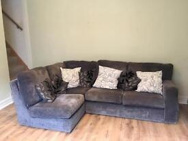 SCS Corner Sofa - Charcoal Grey - Used