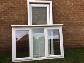 PVC-U Double Glazed Casement Window and Back Door (with Frame) - High Security