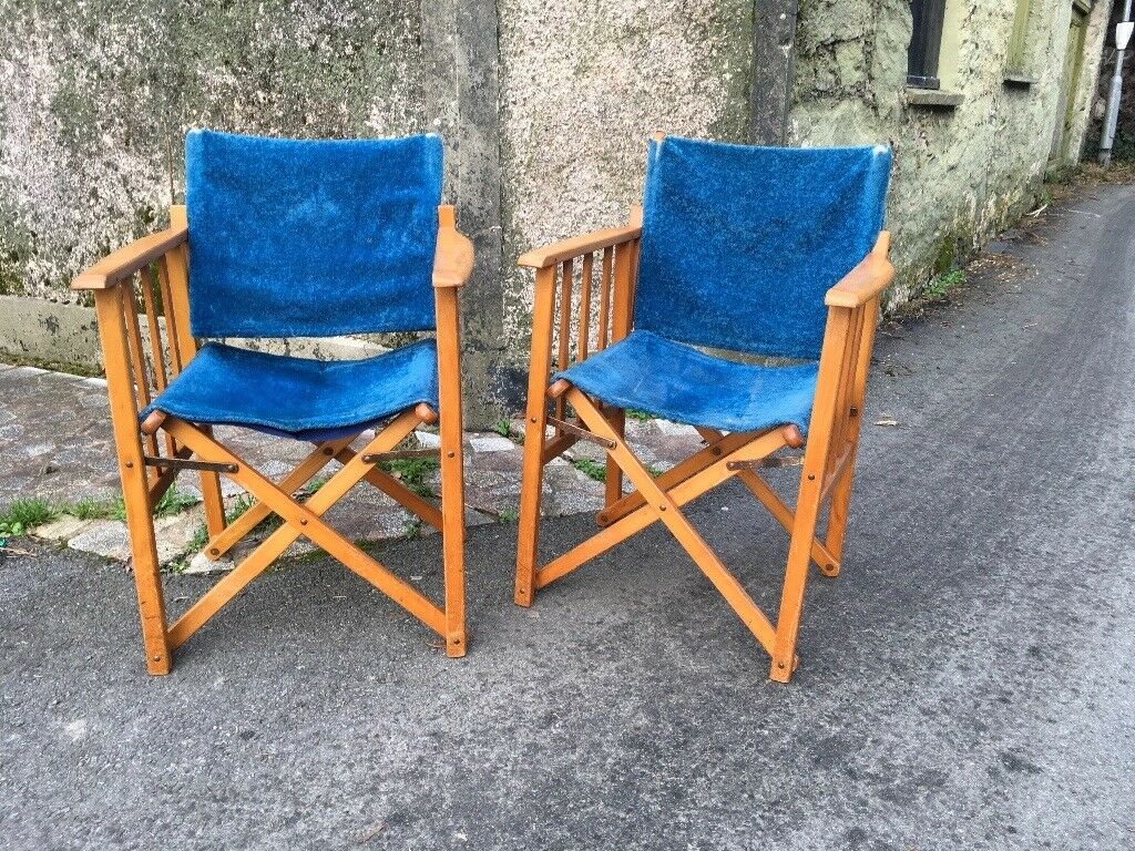 A pair of vintage directors chairs. Made by GEEBRO of Hailsham. - A Pair Of Vintage Directors Chairs. Made By GEEBRO Of Hailsham. In