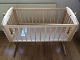 Crib - mothercare swinging crib