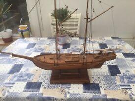Wooden ornate boat.