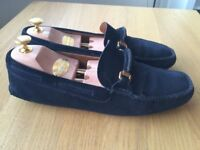 Luxurious Churches blue suede mens loafers, casual shoes 43/uk9, RRP £320