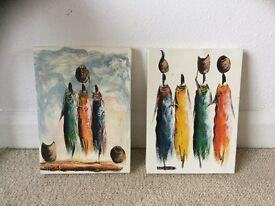 Pair of original African paintings