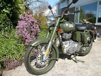 ROYAL ENFIELD 500 bullet CLASSIC LATEST MODEL EURO 4 WITH REAR DISC E.F.I. AND A.B.S. ! DOWN £100 !
