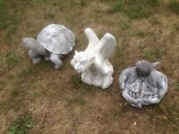 VARIOUS RECONSTITUTED STONE GARDEN ORNAMENTS