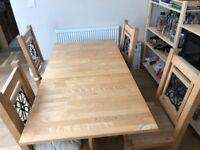 Collapsible Table & 4 Chairs - Price Negotiable