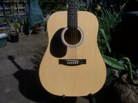 Eastcoast Left Handed Acoustic Guitar Full Size.