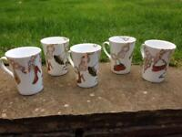 SET OF 5 QUIRKY ROSANNA ALL I WANT FOR CHRISTMAS MUGS